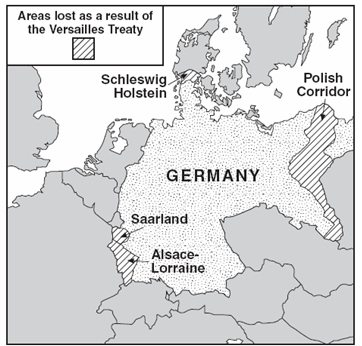 Mrsommerglobal Between The Wars Multiple Choice - Germany map after the versailles treaty